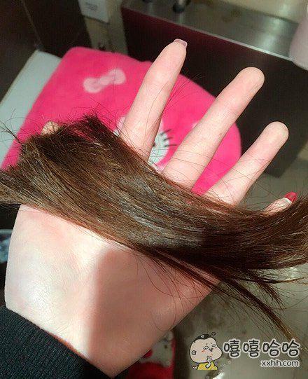 刚有个男生说待我长发及腰就娶我,我二话没说就把头发剪了