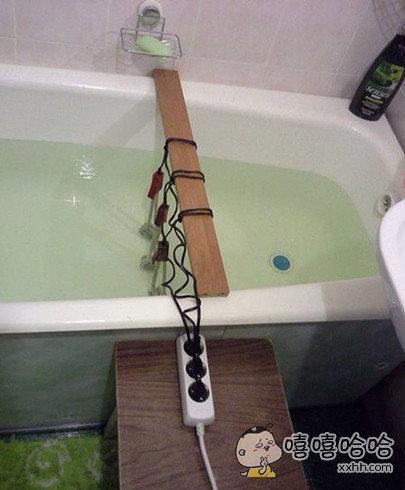 家里热水器坏了,伦家只能用这个方法