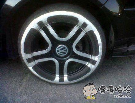 DIY了个跑车轮胎
