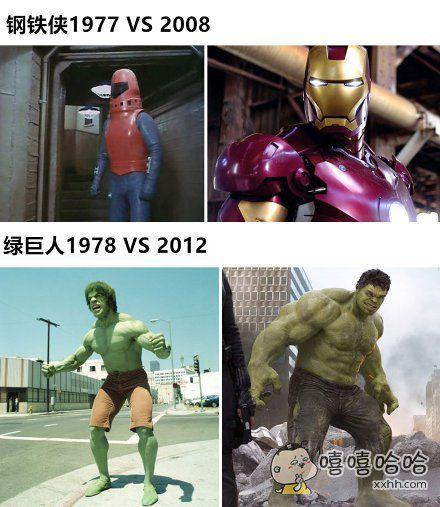 些超级英雄的荧幕造型,今昔对比