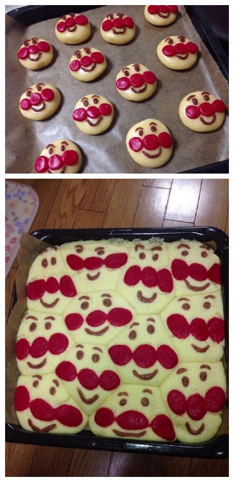 一妹子做了一锅面包超人蛋糕,出锅后这效果…春节前的你和春节后的你