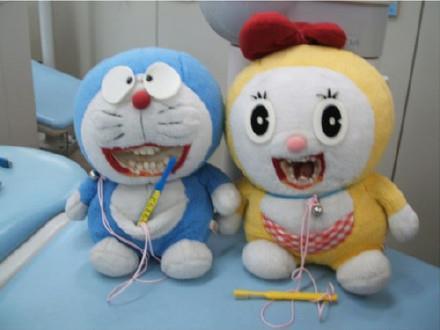 牙科医院里放着的玩偶……吓死宝宝了