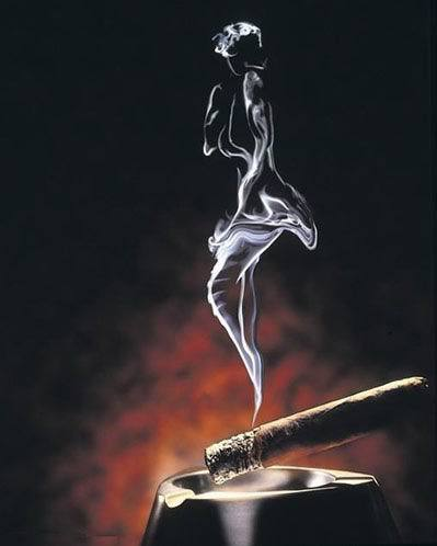 烟比女人好;伤肺不伤心