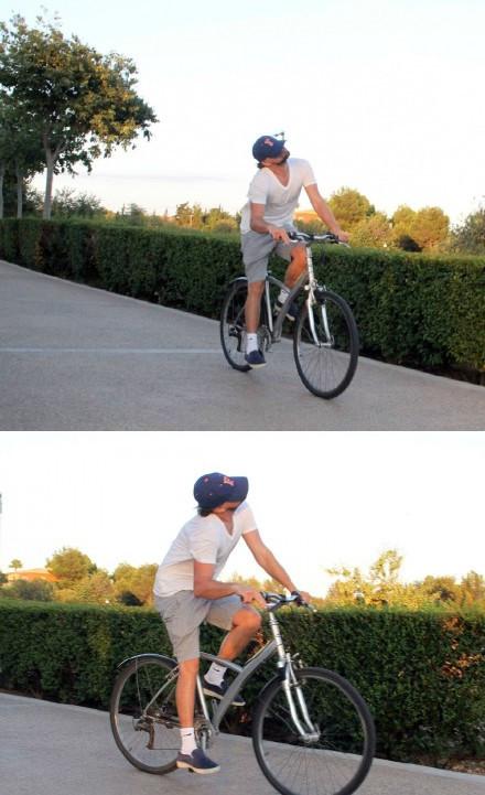 简直心疼小李...狗仔们能不能让人家好好骑个车?