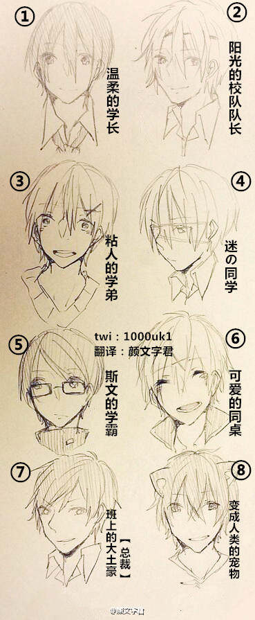 如果在学校里邂逅了下面8种类型的男生,你最想去了解是哪一个..(๑•́ ~ •̀๑)