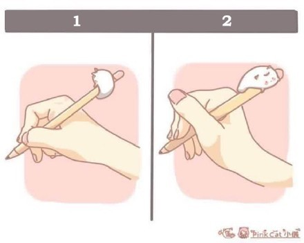发现了除了第一种握笔方式外,第二种也有不少人用