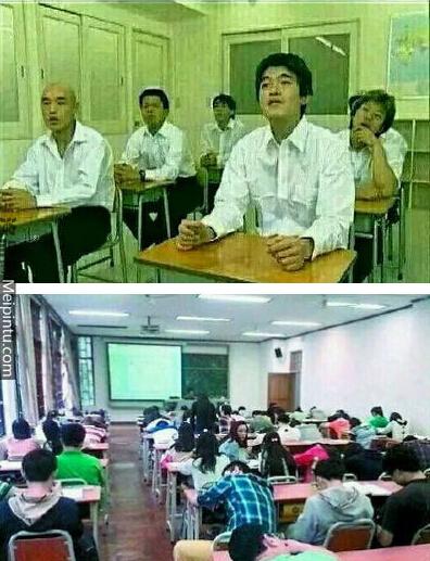 日本大学生那专注的眼神,对知识的欲望,中国大学生还有很长的路要有啊!