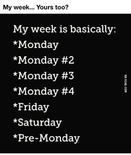 万恶的周一