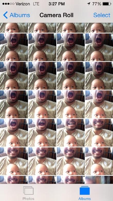 国外一个妈妈给丈夫和儿子拍了一堆照片,当她准备去挑张好的的时候,好像发现了一种新的亲子拍照模式。。