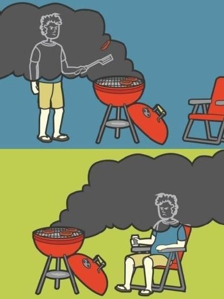 如果说烟雾是那些死去食物的鬼魂,那我每次做饭烧烤吃火锅时都会被他们附体。
