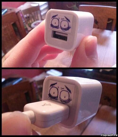 分享一个不太开心的手机电源插座。