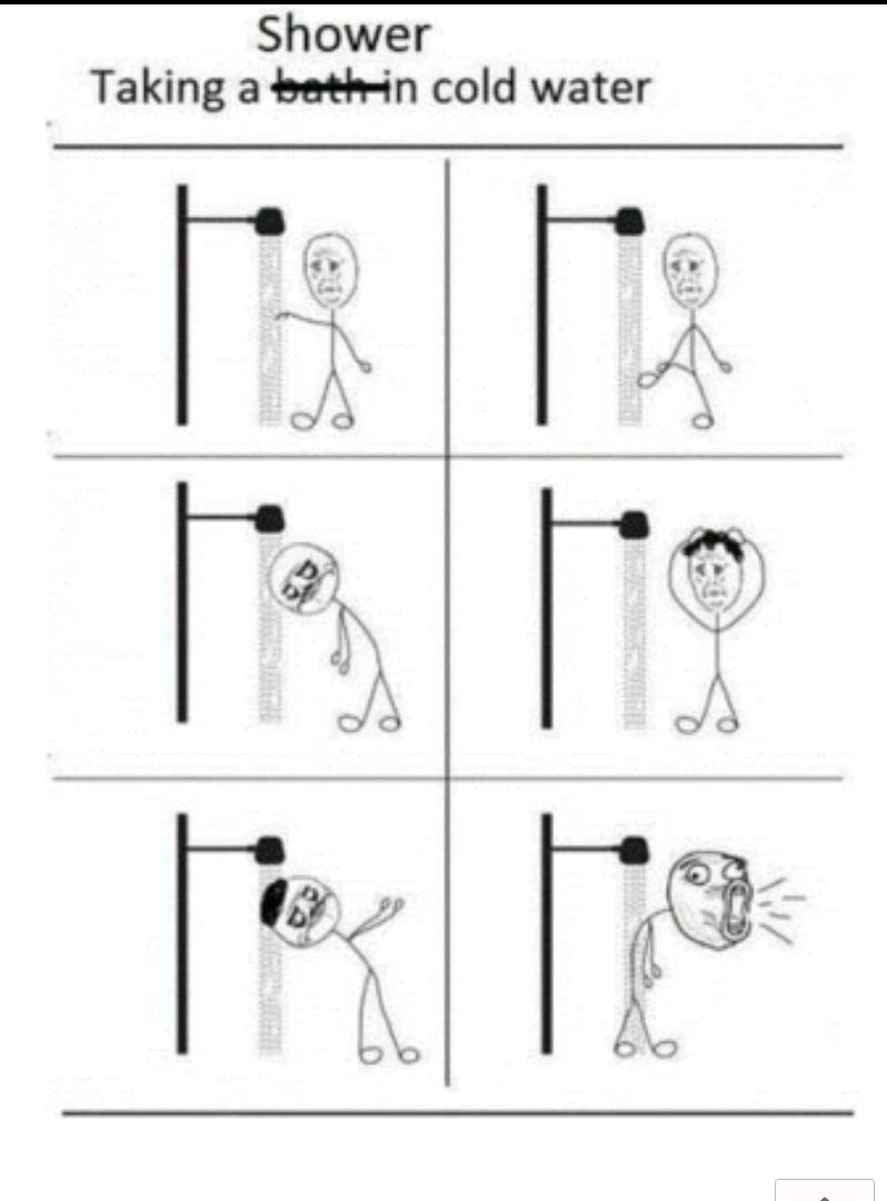 洗凉水澡  发了N个  就是不给过啊