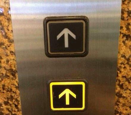 从没见过如此积极向上的电梯