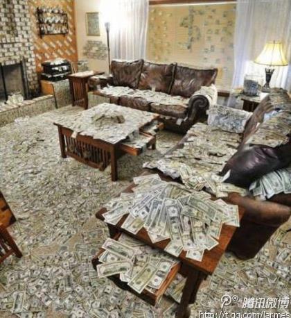 我希望有这么一天。。。我唯一的烦恼是钞票太多整理不完。。。额。。又开始做梦了。。