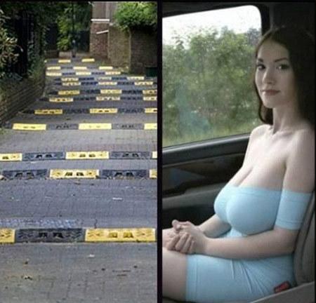 带上这样的美女,走这样的路。颠簸的眼睛都不够看的了。