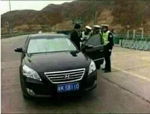这车牌警察不抓你都难