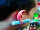 有了这个耳环就不怕没带钱了