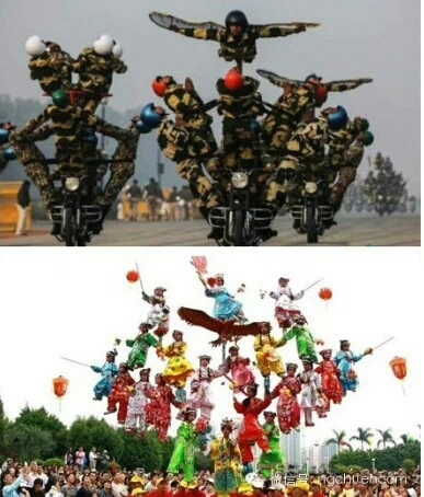 当印度阅兵遇上吴川飘色,战斗力只是为五的渣渣