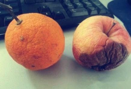 同样都是搁置了一个月,橙子才开始皱皮而苹果却已经腐烂了,所以说脸皮厚对于生命的意义非常重大。。。