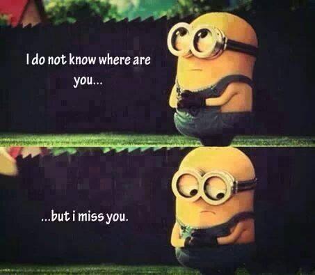 我不知道你在哪儿,可是我想你了。