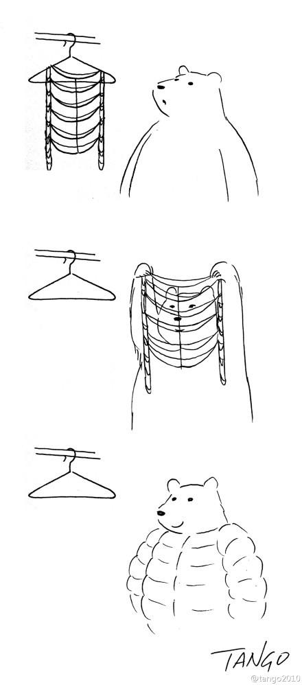 冬天来了,要穿冬天衣服了。。。(via@tango2010)