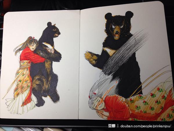 北海道一名男子大学生(19岁)在马路上从背后抱住一只棕熊,受重伤被送往医院。男生受访表示「因为太可爱所以没忍住。」(日推)(图:柳具足的相册)