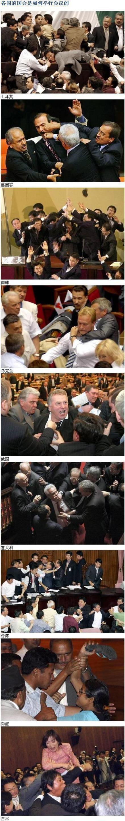 各国国会是如何举行会议的~~