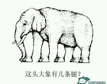 这个大象有几条腿????