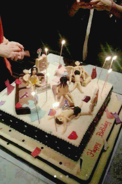节操碎了一地的生日蛋糕,不解释...