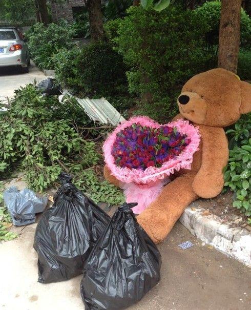 今天早上垃圾堆看到的