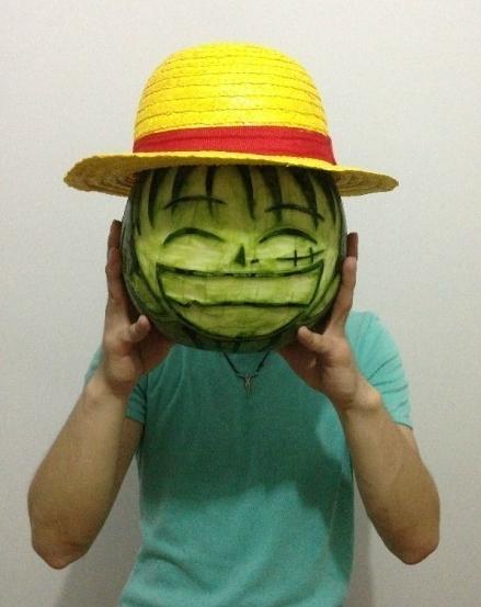 西瓜这是要被玩坏了的节奏,海贼王,太有创意了!