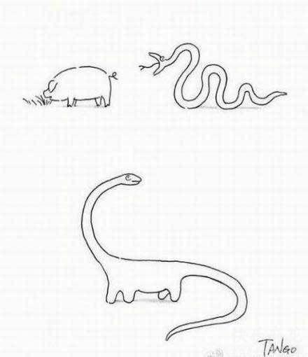 让你长见识了吧。其实恐龙是这样来的。