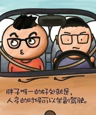 胖子的唯一好处就是,人多的时候可以坐副驾驶。