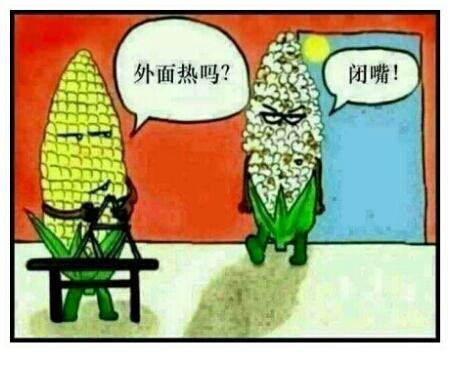 这天热的,出去就变爆米花。。。