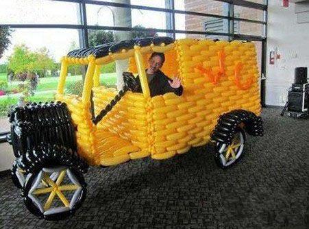 气球也能做成汽车