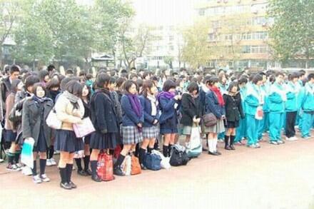中日校服对比:北京冷, 东京热。。。