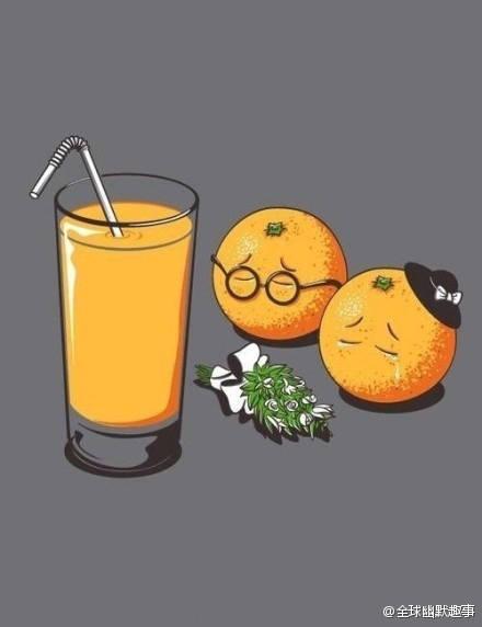 香菇走在路上,被橙子撞了一下。香菇大怒道:「没长眼啊,去死吧。」然后橙子就死了。。。因为菌让橙死,橙不得不死。。。