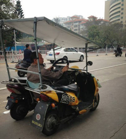 高手在人间,汕头惊现逆天改装车,没四轮的屌丝终于成功逆袭啦!