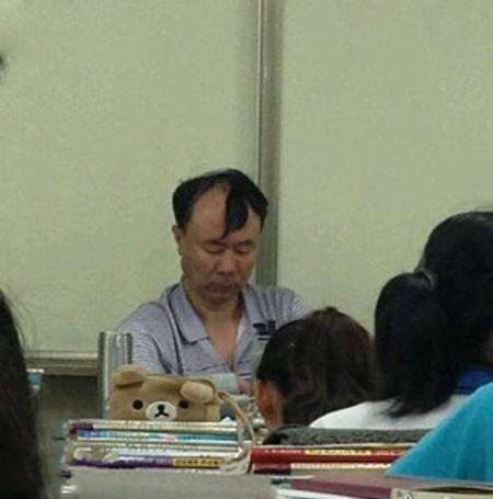 学生时代总会有一个发型犀利的老师!