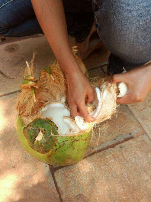 女友徒手开椰子,对于一个徒手开椰子的女友,我是不是应该穿防爆服!