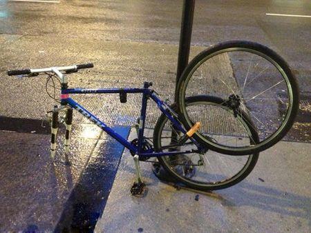 自行车防盗新招 该死的小偷,你再来偷偷我看看呢?