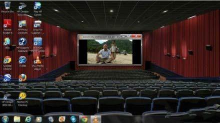 在家营造了电影院的氛围