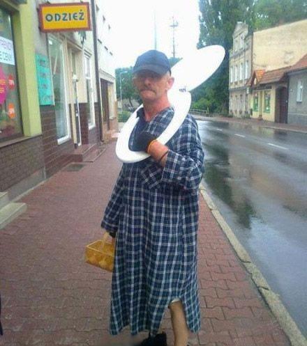 大叔,你被媳妇用马桶盖给揍出来了么