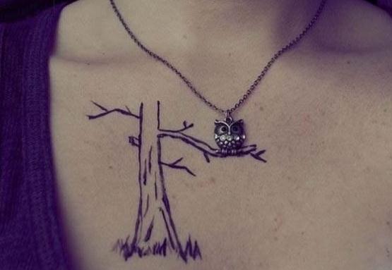 相当艺术感的纹身
