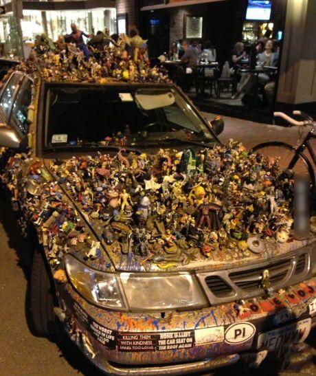 车被二次元生物占领了,我居然看到了小黄鸭