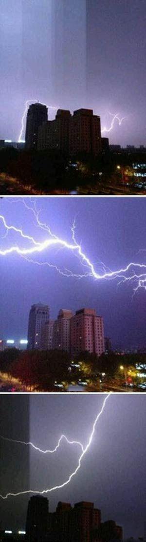 长春的第一场雷雨,好科幻的样子