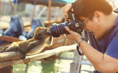 拍照的时候一定要看镜头