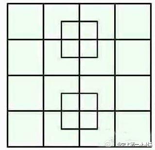 看出31个正方形的是蠢材,35个的人才,40个以上的是天才!