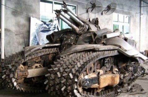 牛人自制的坦克,咋样?