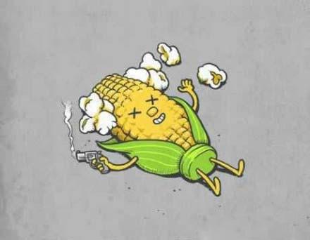 原来玉米自杀是这样的。。。